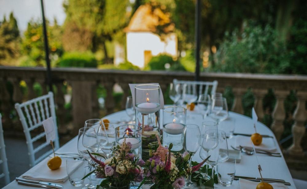 banchetto in villa, matrimonio in toscana