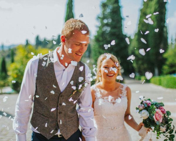 Charlotte e Tom, location per matrimonio in toscana