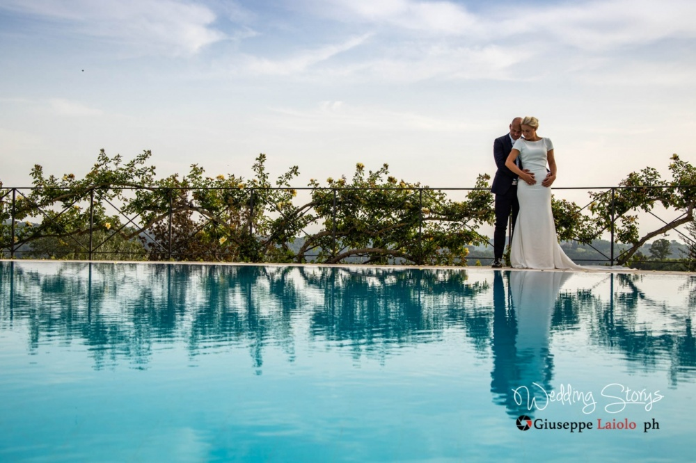 particolare della piscina nella location esclusiva per matrimonio