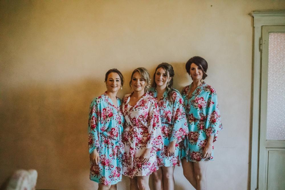 matrimonio in villa toscana, amiche della sposa