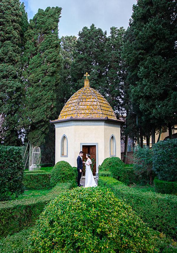 matrimonio in villa toscana, cappella interna alla villa