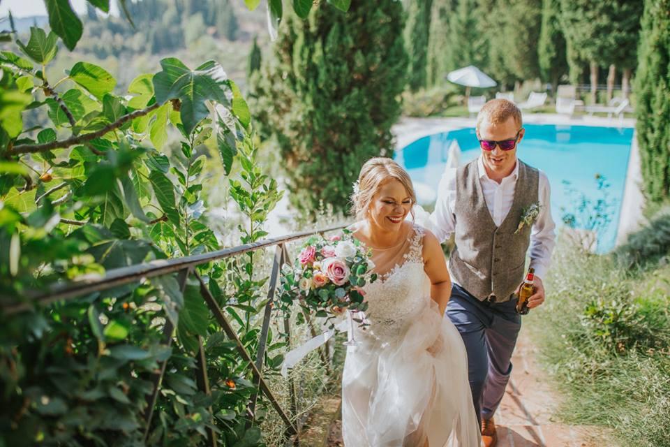 villa con piscina per matrimonio in toscana